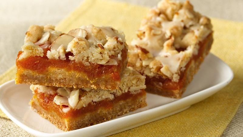 Apricot Bars with Cardamom-Butter Glaze recipe from Betty Crocker