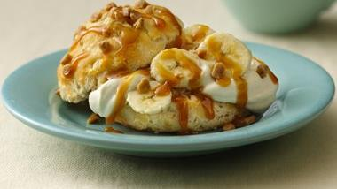Banana-Cream Toffee Shortcakes