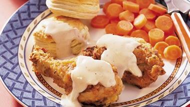 Buttermilk Fried Chicken with Honey Butter Biscuits