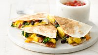 Bacon, Egg and Black Bean Quesadillas