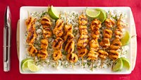 Skinny Grilled Sriracha Chicken with Garlic Cilantro Rice
