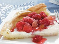 Raspberry-Rhubarb Dutch Baby Pancake