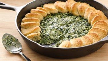 Spinach-Alfredo Skillet Dip