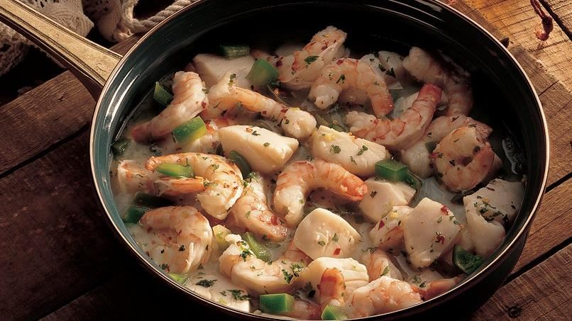 Shrimp and Scallops in Wine Sauce