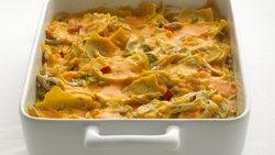 Skinny Chicken Tortilla Casserole
