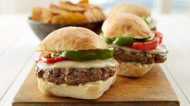 Meatball Provolone Burgers with Garlic Parmesan Aioli
