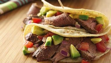 Steak Tacos with Avocado Salsa