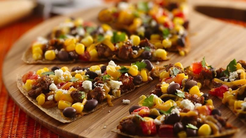 Chorizo Mexican Breakfast Pizzas