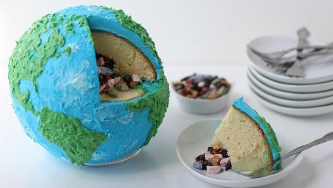 Earth Cake with Rock Candy Core