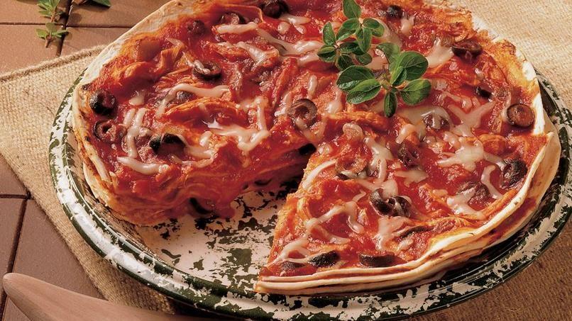 Tortilla-Chicken Stack