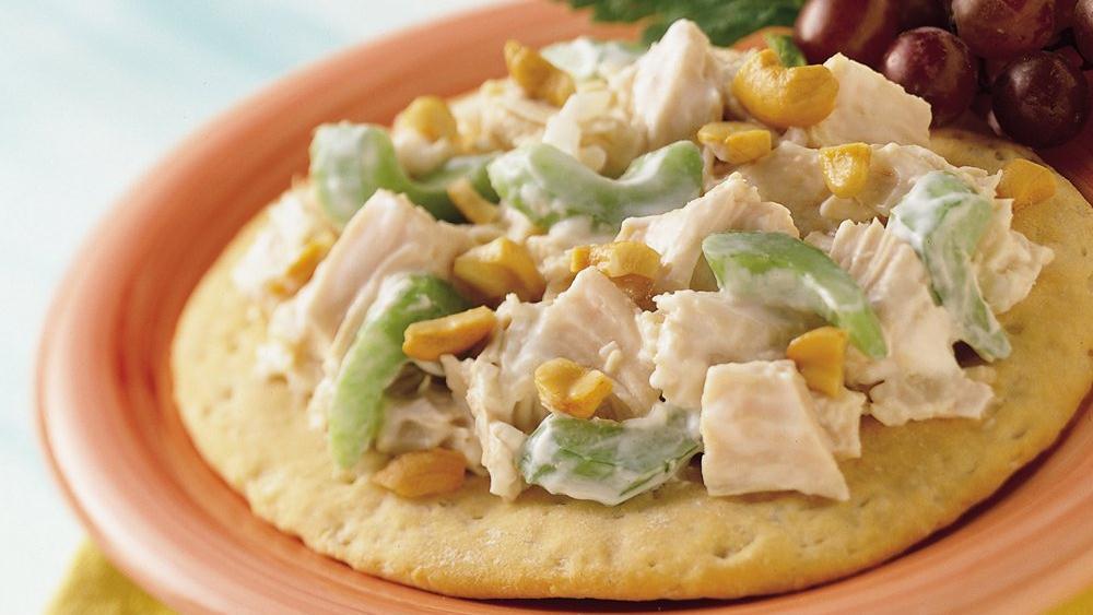 Chicken Salad Biscuit Boats