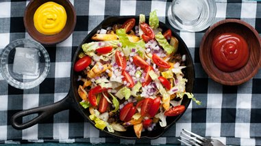 Cheeseburger Skillet Fries