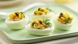 Smoked Salmon Deviled Eggs