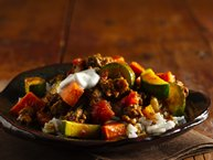 Beef, Summer Squash and Sweet Potato Curry