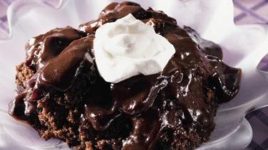 Thick and Fudgy Triple Chocolate Pudding Cake