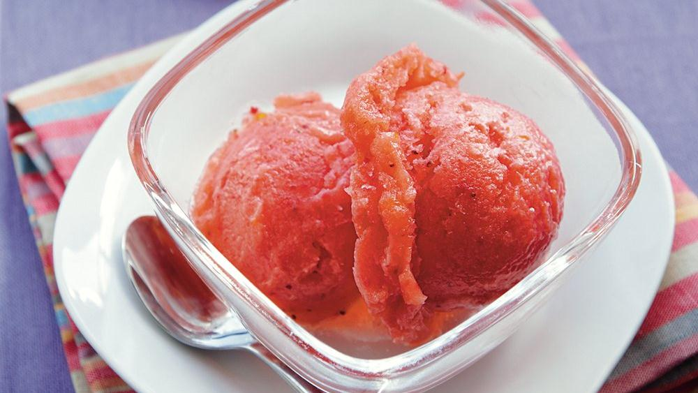 Tangerine Strawberry Sorbet
