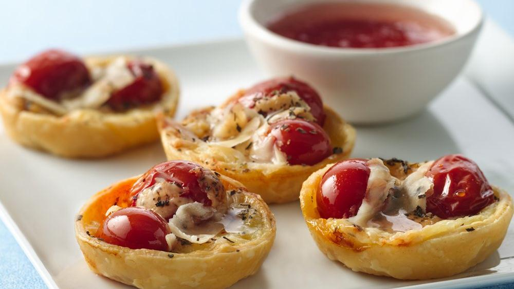 Brie and Candied Tomato Tartlets