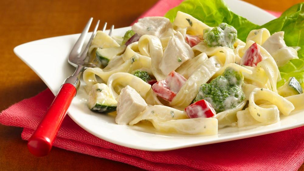 Chicken Alfredo Salad