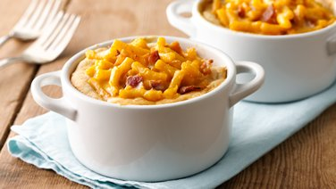 Mini Bacon Mac-and-Cheese Pot Pies