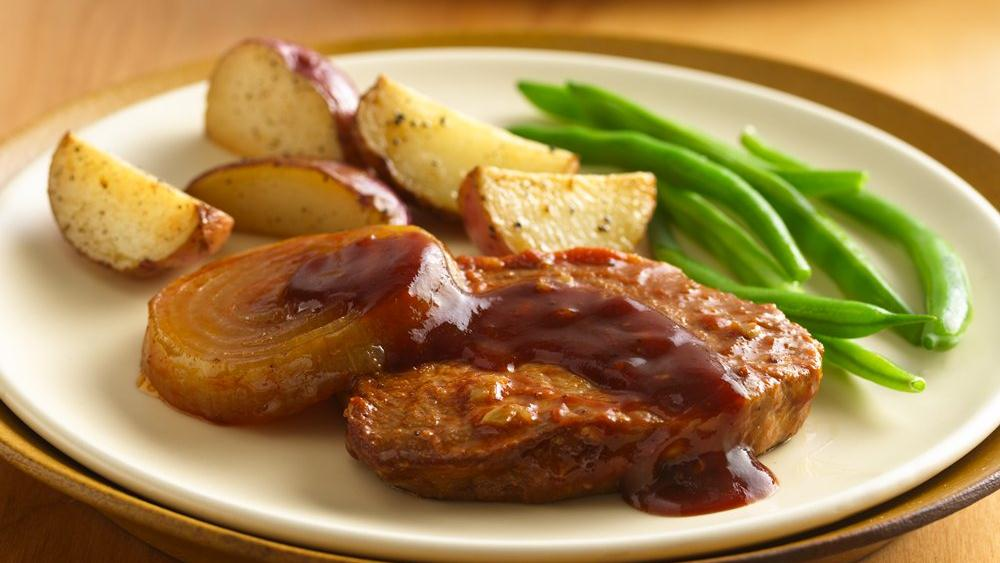 Barbecued Pork Chops for Two