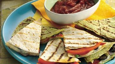 Grilled Pizza Quesadillas