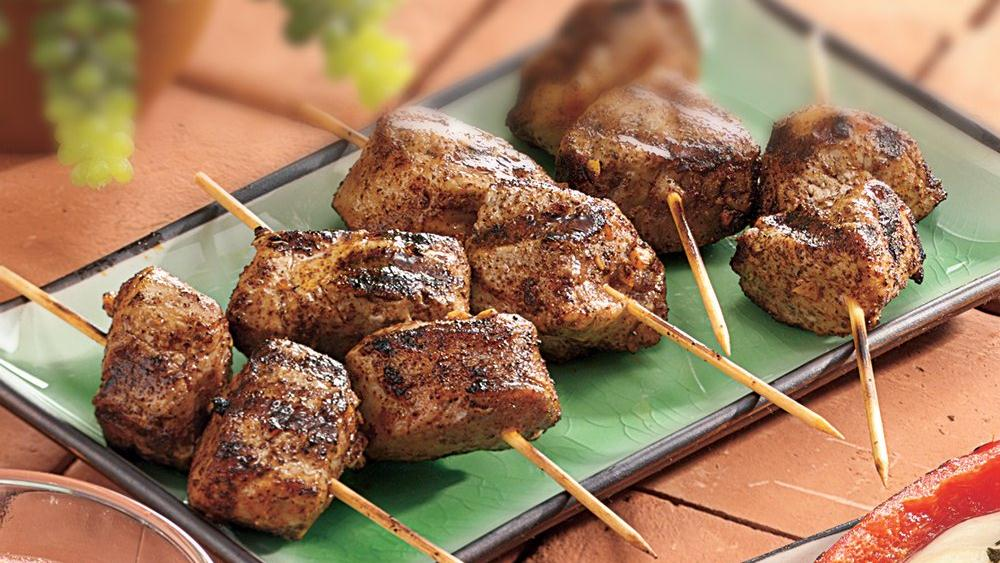 Grilled Spicy Mini Pork Kabobs