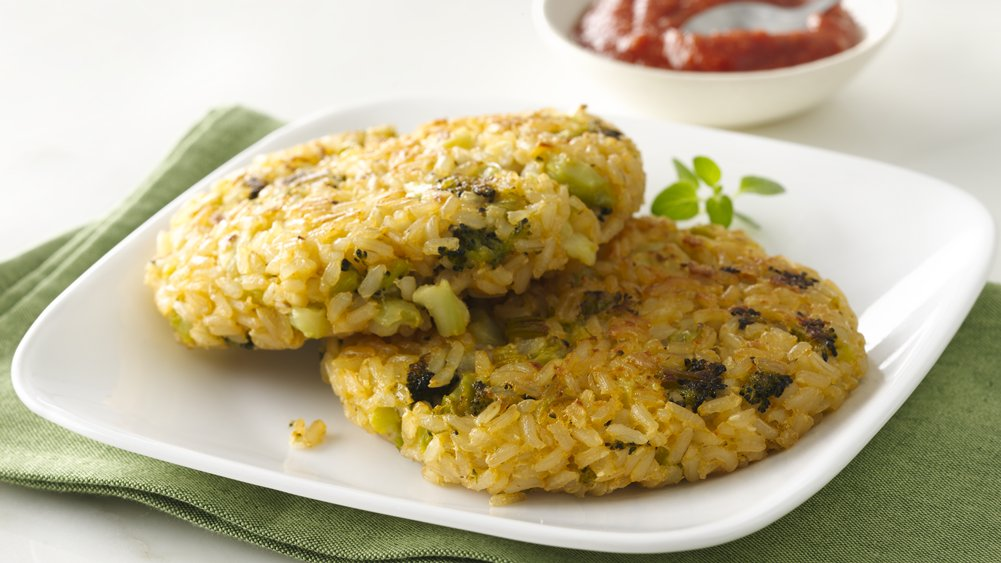 Cheesy Broccoli and Brown Rice Patties
