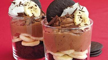 Chocolate-Banana Pudding Parfaits