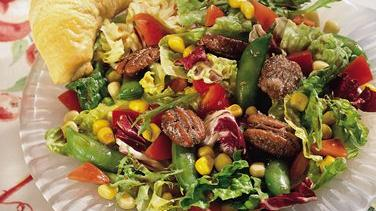 Corn and Pea Salad with Cinnamon-Toasted Pecans