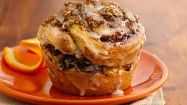 Persian Date-Filled Cinnamon Roll Muffins
