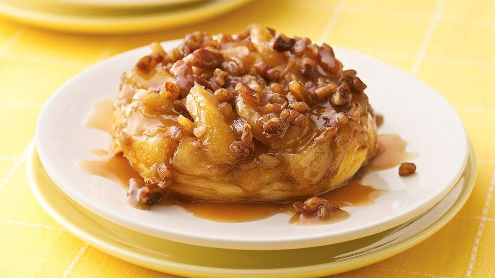 Upside-Down Caramel-Apple Biscuits