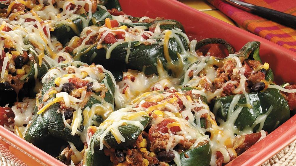 Stuffed Poblano Chile Peppers