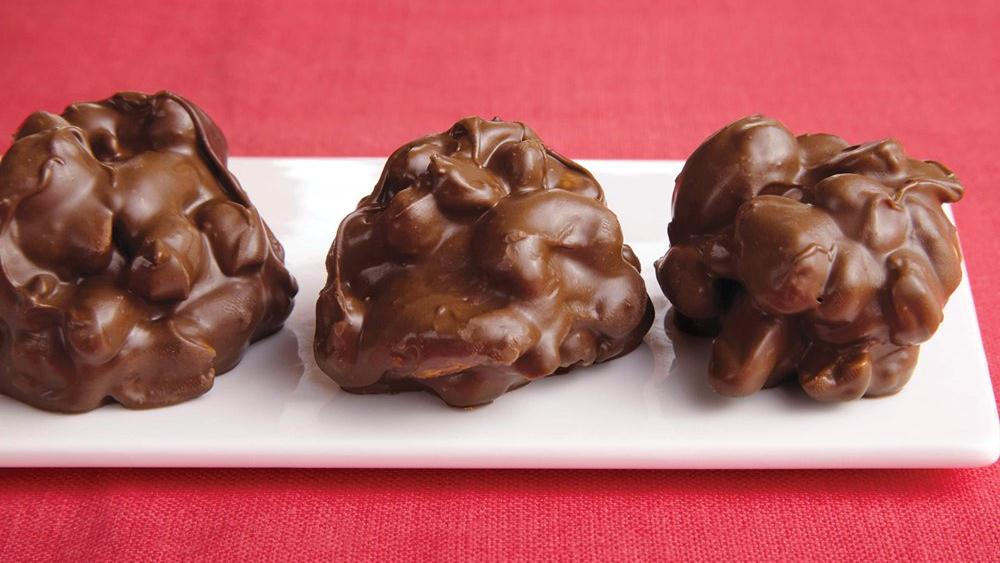 Triple Chocolate-Covered Nut Clusters