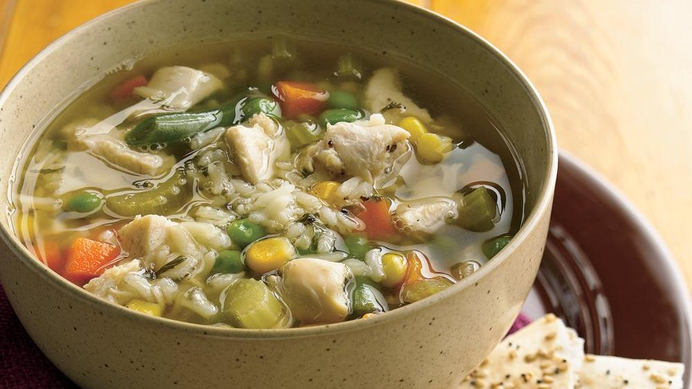 Hearty Chicken Rice Soup