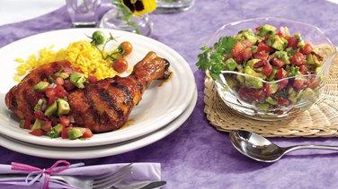 Grilled Chicken with Chipotle-Avocado Salsa