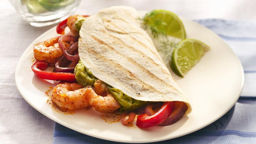 Grilled Shrimp Fajitas