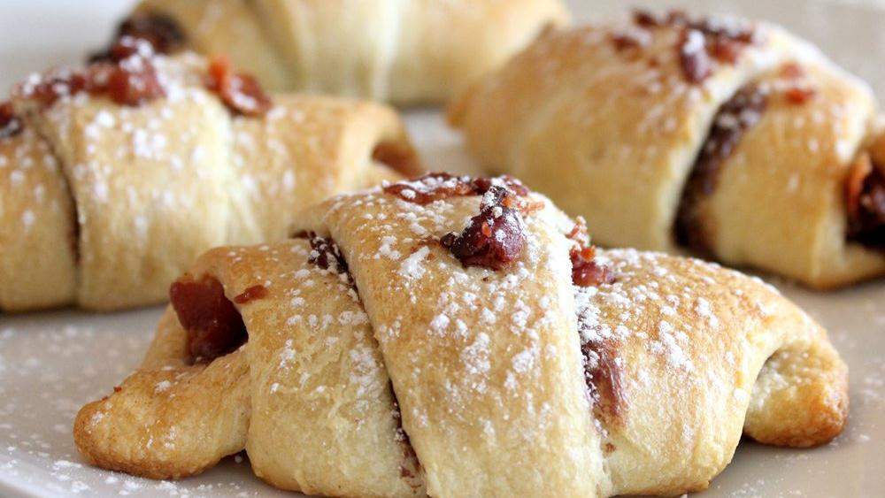 Chocolaty Hazelnut and Bacon Crescents