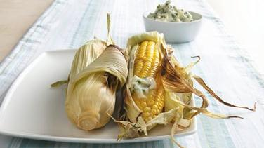 Grilled Corn-on-the-Cob with Herb Butter