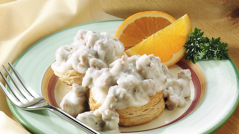 Biscuits with Pork Sausage Gravy