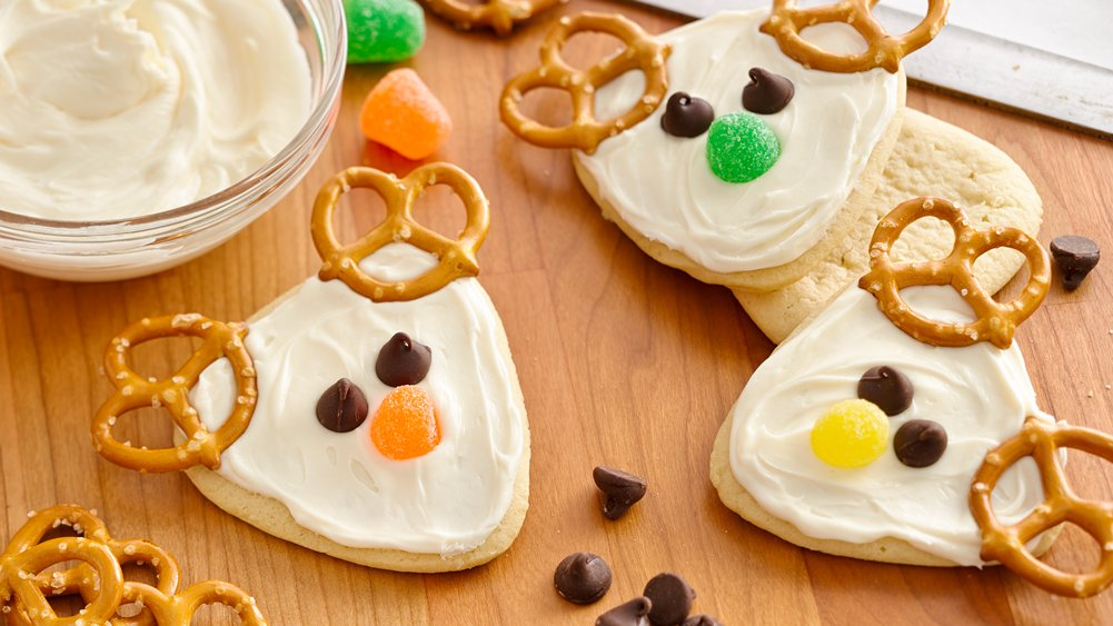 Frosted Reindeer Cookies