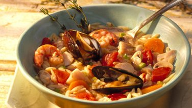 Seafood Stew with Orzo