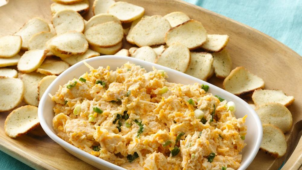 Beer Cheese Spread with Baguette Chips