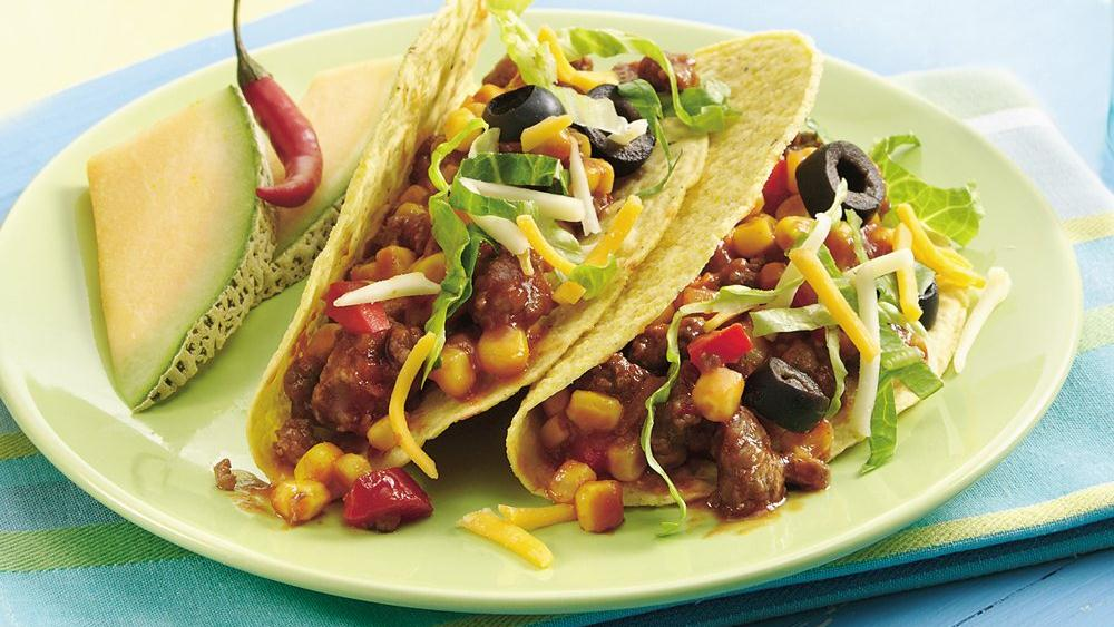 Sloppy Joe Confetti Tacos