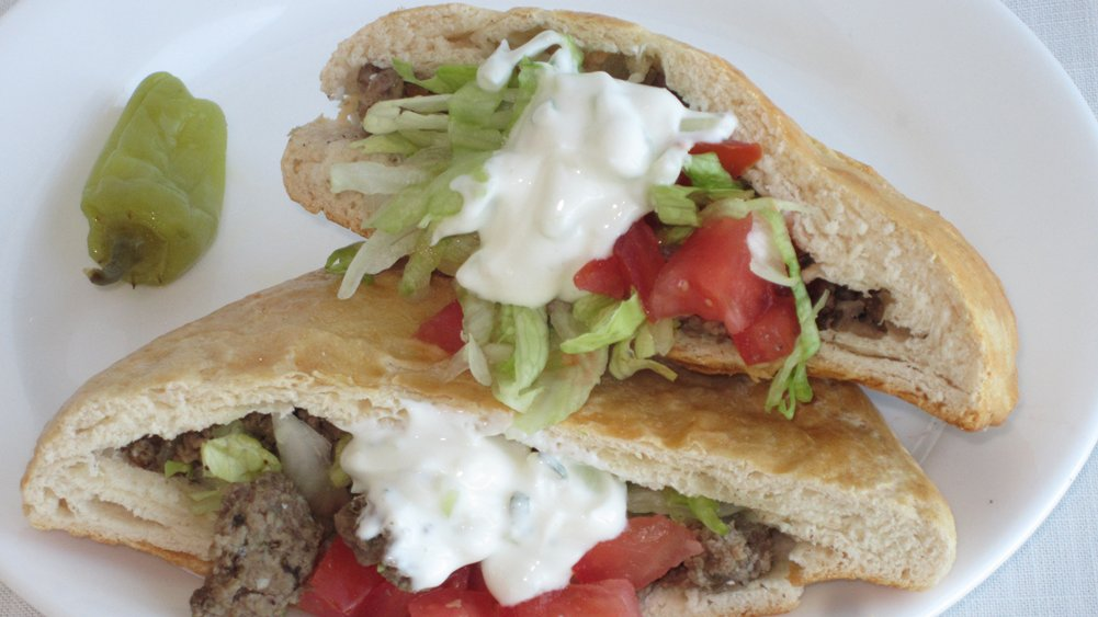 DIY Pocket Bread Sandwiches with Ground Lamb and Feta