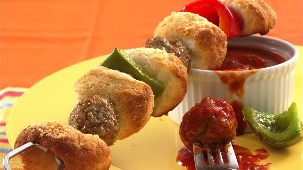 Meatball and Biscuit Kabobs