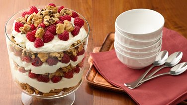Gluten-Free Chocolate Chip, Raspberry and White Chocolate Trifle