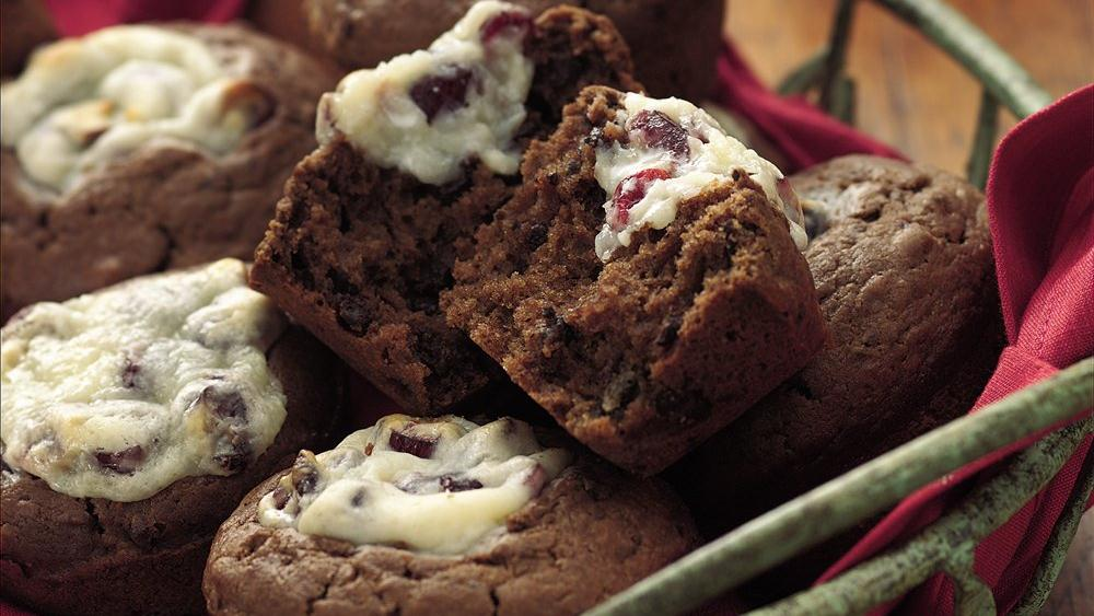 Double-Chocolate Cranberry Muffins