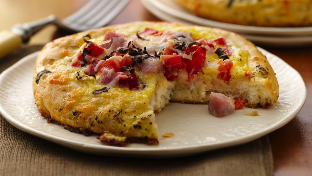 Ham and Eggs Frittata Biscuits