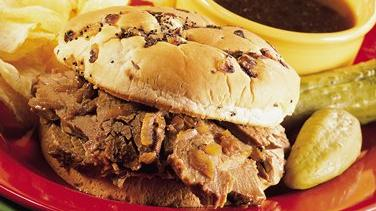 Hot Beef Sandwiches Au Jus