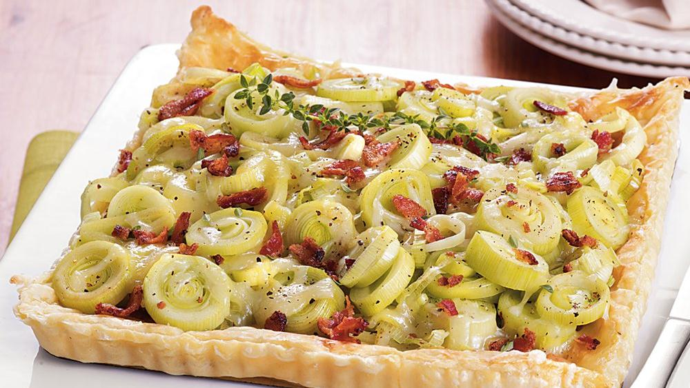Bacon and Leek Tart